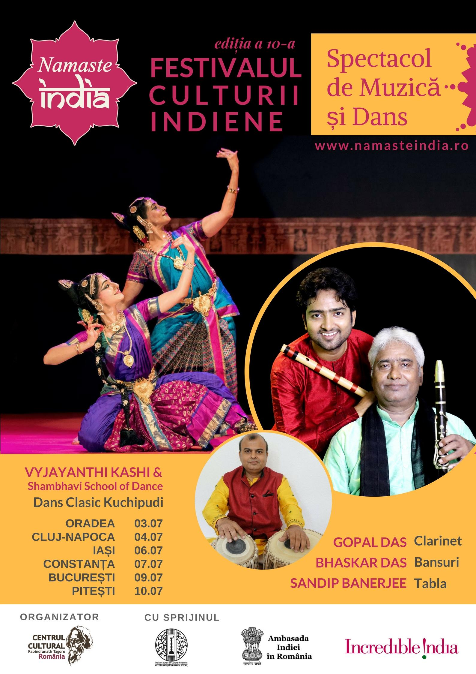 Namaste India -Music  Dance tour poster - Draft 1